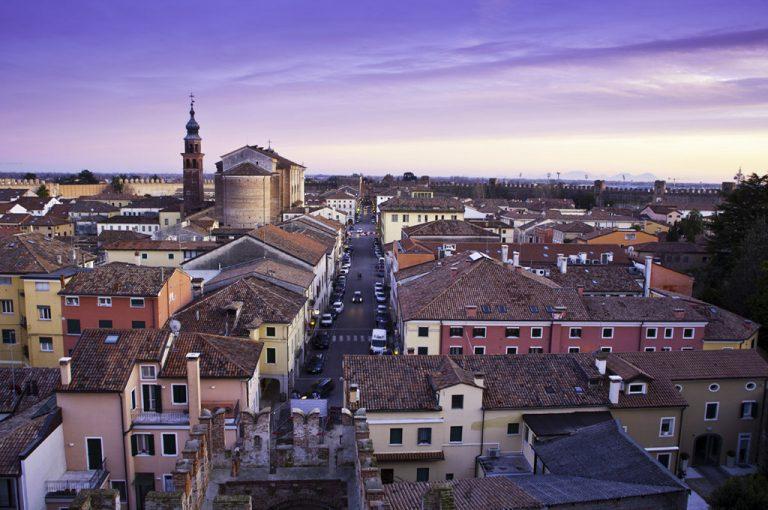 Cittadella: tramonto sulla città