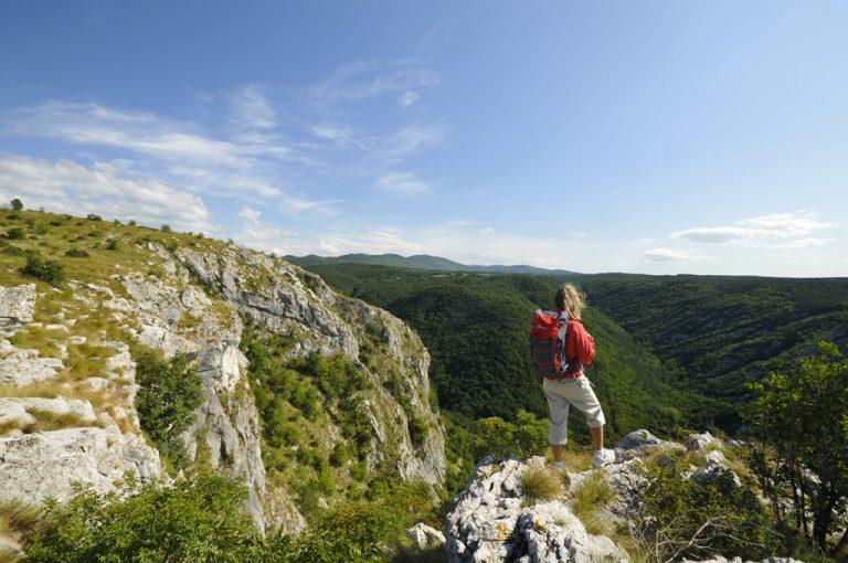 Escursione in Val Rosandra: panorama