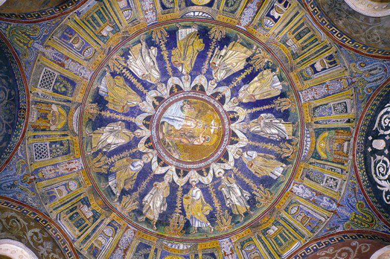 Mosaici di Ravenna: soffitto battistero