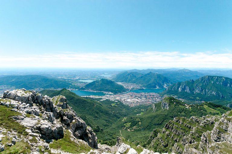 Sulla cima del Resegone: panorama