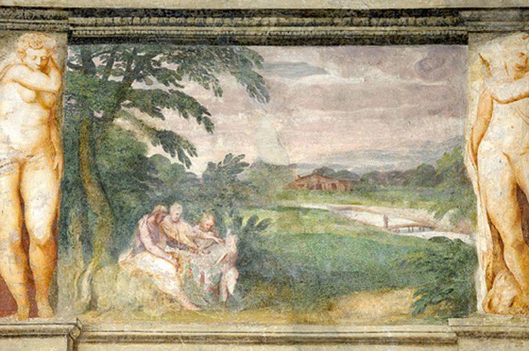 Villa dei Vescovi: affresco