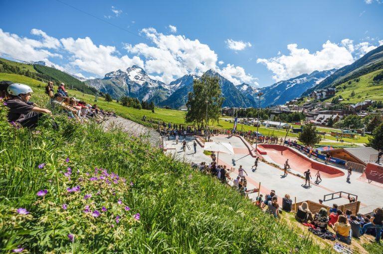 Les 2 Alpes: skateboard