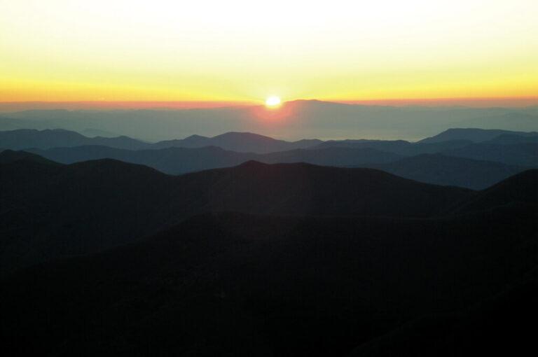 Alta via dei parchi: alba