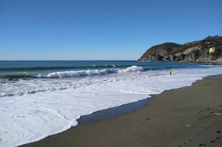 Ciclopedonale Levanto-Framura: spiaggia Levanto