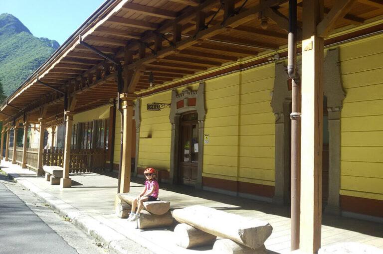 Ciclabile val brembana: stazione San Pellegrino Terme