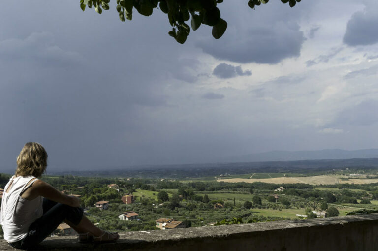 Un giro attorno a chiusi: terrazza panoramica a Chianciano