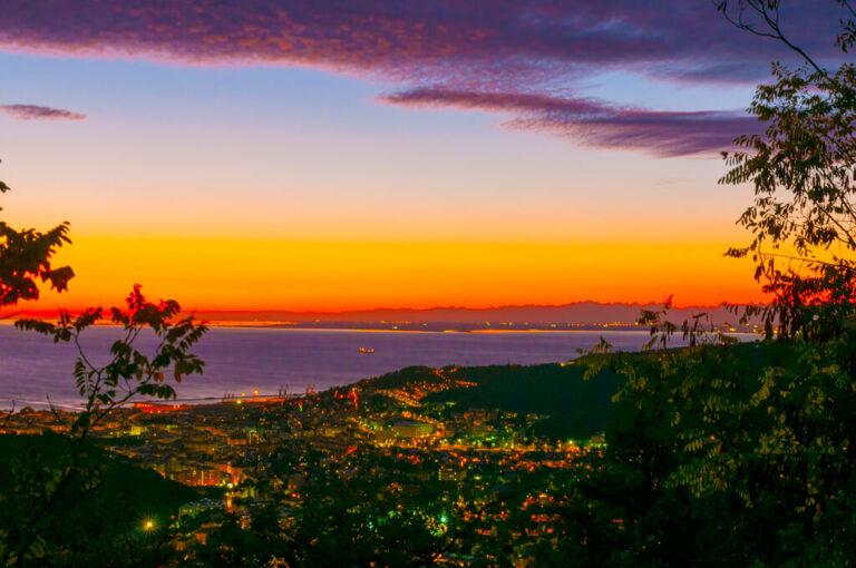 Weekend in camper attorno al golfo di trieste: tramonto