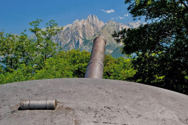 Forte montecchio nord: cannoni