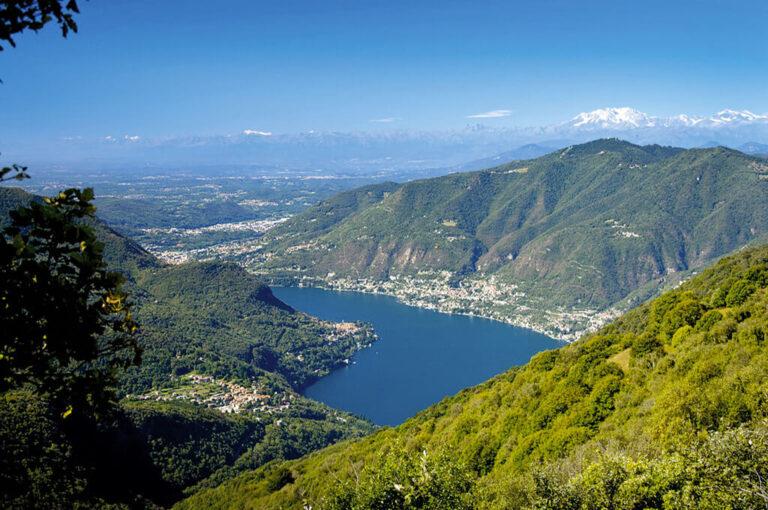 La salita al monte palanzone:• Veduta sul lago di Como